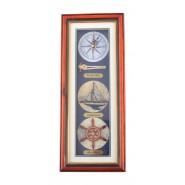 Рамка - морски възли с часовник