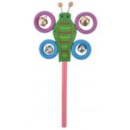 Дървена дрънкалка - пеперуда