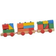 Дървено влакче с кубчета