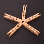Комплект 20 дървени щипки