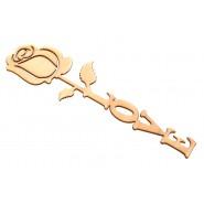 Дървена роза LOVE