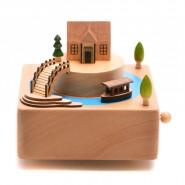 Музикална кутия с къщичка и лодка