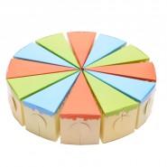 Картонена торта с цветни парчета