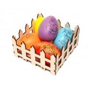 Дървен панер за яйца