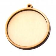 Кръгла заготовка за медальон - 10 броя
