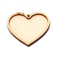 Заготовка за медальон -  сърце, 10 бр