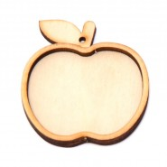 Заготовка за медальон - ябълка, 10 броя