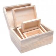 Комплект от 3 бр дървени кутии