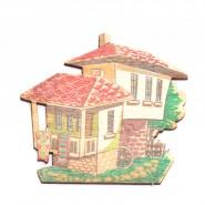 Фигурки - дървени къщички, 10 бр
