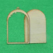Дървена заготовка - прозорец, 10бр