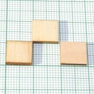Дървена заготовка - квадрат, 500 бр