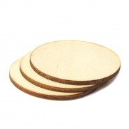 Дървена заготовка - кръг, 50 бр