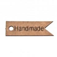 Картонен етикет - Handmade, 100 бр