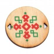 Дървена плочка с български шевици, 50 бр