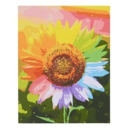 Картина по номера - Цветен слънчоглед, 40х50см