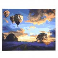 Картина по номера - Залез с балони, 40х50см