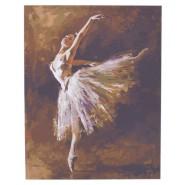 Рисуване по номера - балерина 40х50см