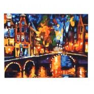 Картина по номера - Нощен Амстердам, 40х50см