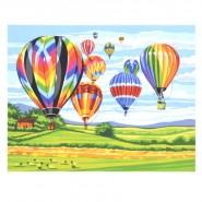 Картина по номера - Балони в небето, 40х50см