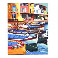 Картина по номера - Лодките, 40х50см
