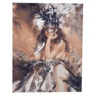 Рисуване по номера - Жената с маската, 40х50см