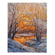 Картина по номера - Зимна картина, 40х50см