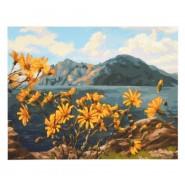 Картина по номера - Цветя на скалист бряг, 40х50см