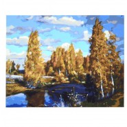 Картина по номера - Дървета, 40х50см