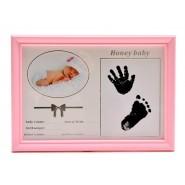Рамка за снимка за бебе с отпечатъци
