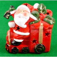 Свещник - локомотив с Дядо Коледа