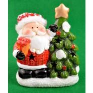 Светеща порцеланова фигурка на Дядо Коледа