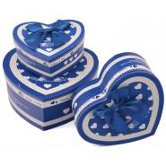 Комплект от три броя кутии - сърце