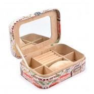 Стилна кутия за бижута - изкуствена кожа