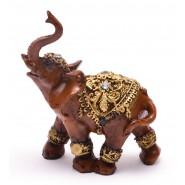 Фигурка на слон с камъчета