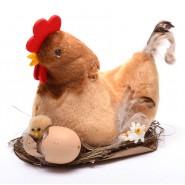 Кокошка_ в_ гнездо_ с _пиле