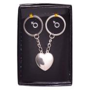 Двойка ключодържатели във формата на сърце