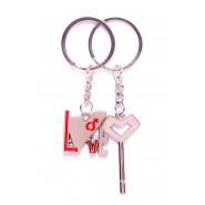 Ключодържатели - надпис LOVE  и ключ