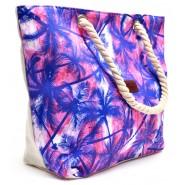 Лятна чанта - цветни палмички