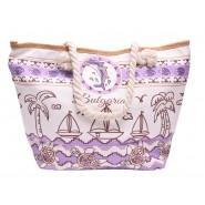 Лятна чанта - лодка и палми