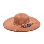 Лятна шапка с изкуствени цветя