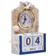 Часовник с календар - морски мотиви