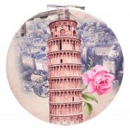 """Джобно огледало- """"Наклонената кула в Пиза / Айфеловата кула"""""""
