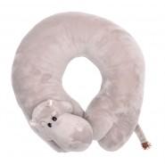 Възглавница за път - сив хипопотам