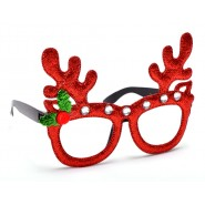 Карнавални очила с еленски рога