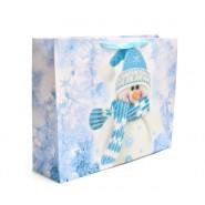 Подаръчна торбичка - снежен човек