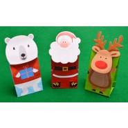 Коледни кутии за подаръци - 3 броя