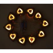 Светещи сърца - гирлянд