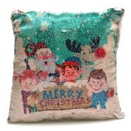 Коледна възглавничка с пайети