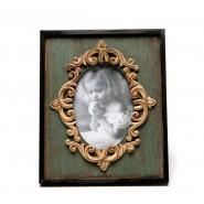 Ретро рамка за снимки със златисти орнаменти