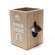 Кутия за бирени капачки с отварачка